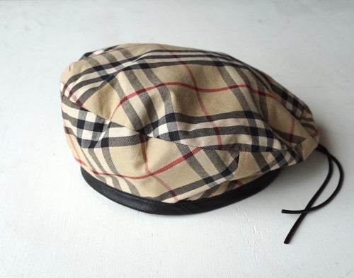 "[Magfacture] ""BERET"" Nova Check × Used Leather"