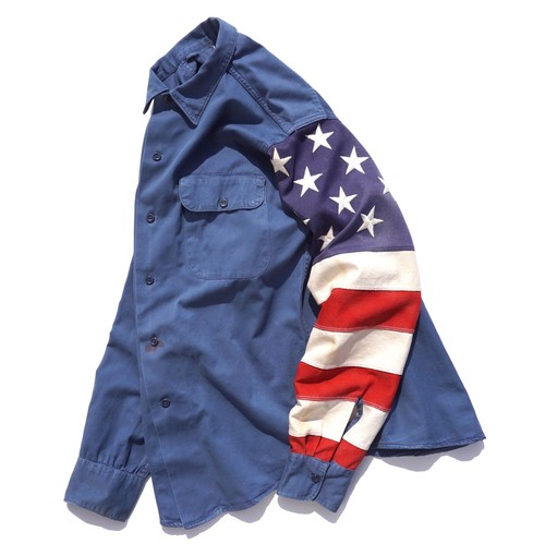 "[Magfacture] ""STARS & STRIPES WORK SHIRT"" size:SMALL"