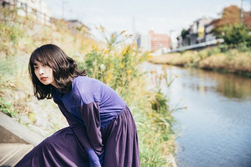 grape knit dress