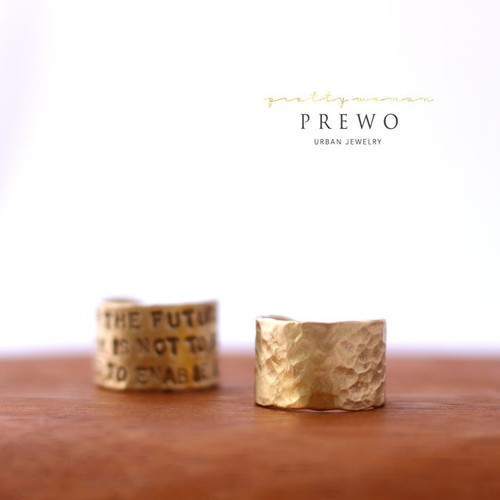 【受注製作】BRASS-RING Hammered type -真鍮-