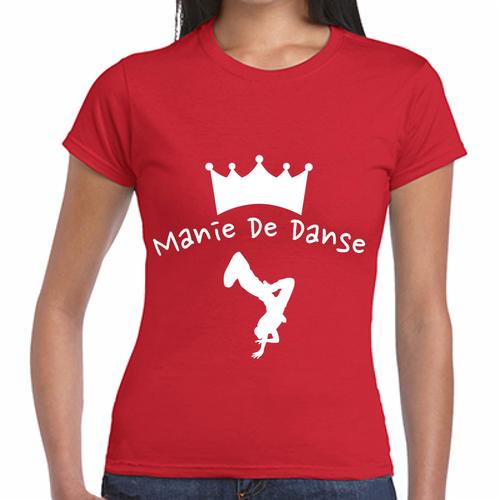 Manie De Danse レディースウェアレッド(S、M、L)