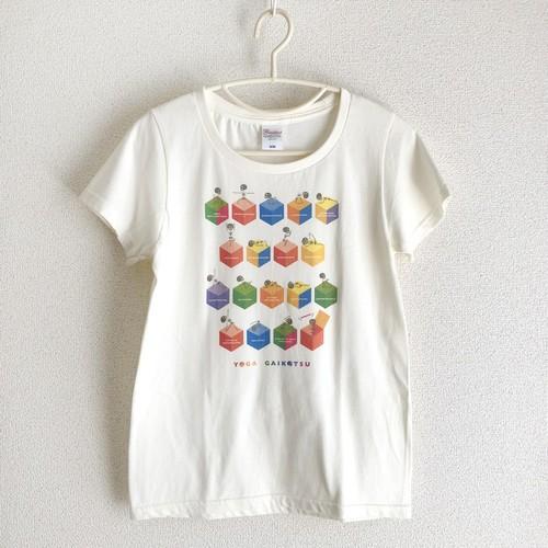 【SALE】ヨガがいこつTシャツ[cube](レディースM・L)(在庫限定)
