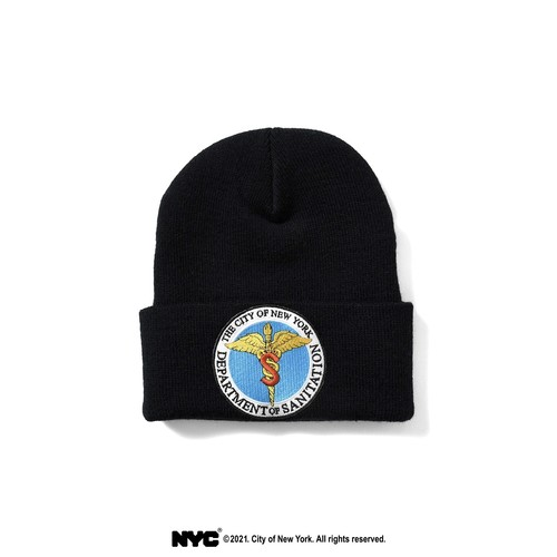 LFYT × DSNY COMMUNITY SERVICES LONG BEANIE / BLACK