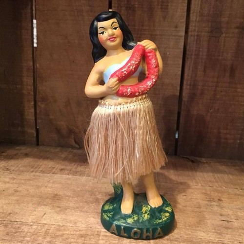 Lei Vender Girl, Vintage Hawaii Hula Nodder Made in Japan