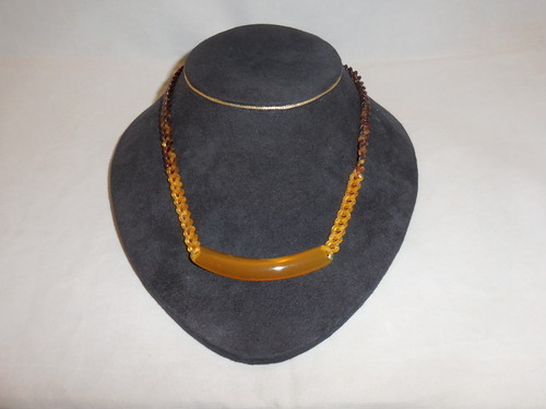 鼈甲ネックレス(ビンテージ) vintage tortoiseshell work necklace