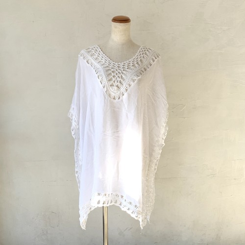 Poncho Top WH