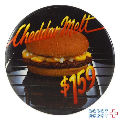 マクドナルド 缶バッジ チェダーメルト  $1.59