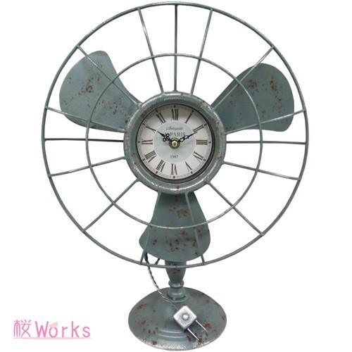 置き時計 扇風機型 レトロ アンティーク調 おしゃれ 雑貨