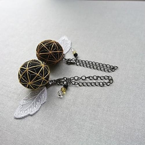 「陰陽師☆黄竜」天使のお守りチャーム 魔除け 開運 バッグチャーム