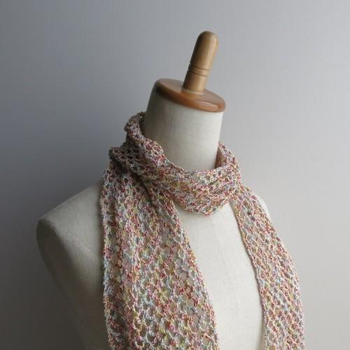 綿糸のストール(リングミックス)