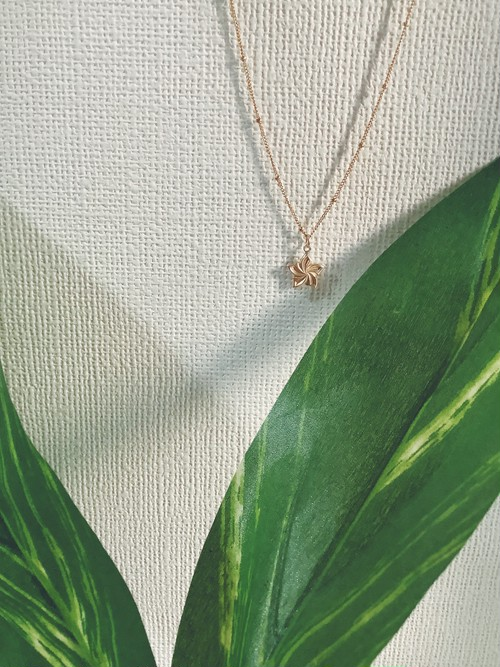 14kgf Plumeria necklace