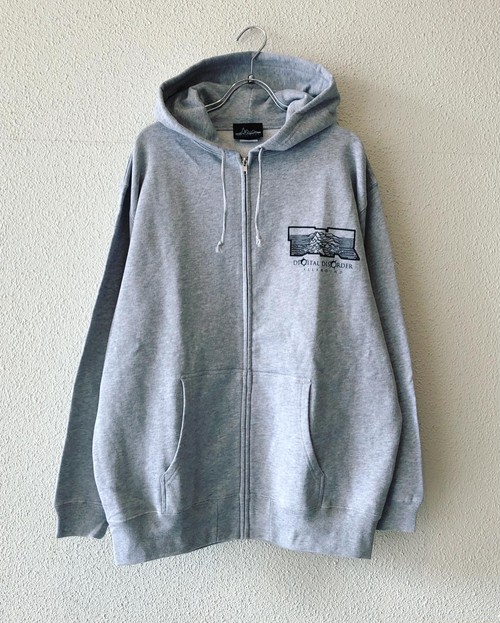"【19046】ZIP HOODIE ""AxTxR"" (HEATHER GRAY)"
