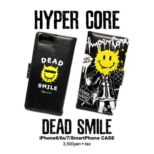 A-338D DEAD SMILE iPhone&スマホ手帳型ケース