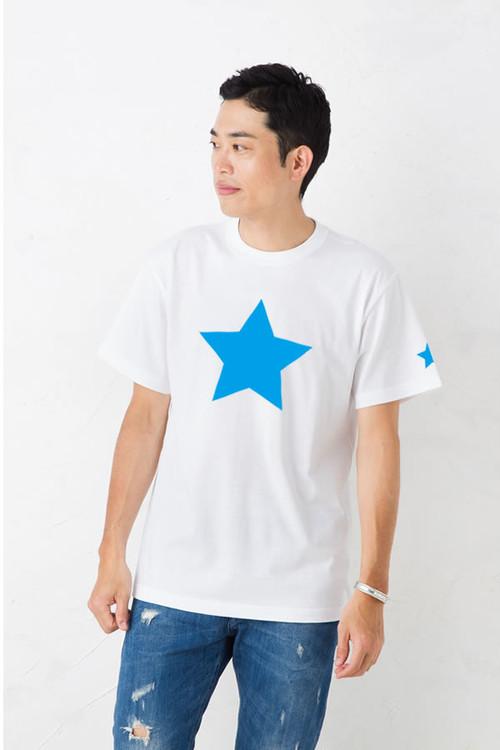 Tシャツ メンズ レディース 半袖 星柄 プリント Tシャツ アメカジ 5.6オンス ヘビーウェイト シンプルでもアメリカンなワンスター