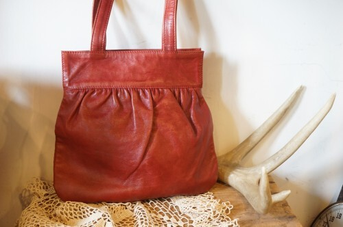00's ISABEL MARANT red leather small Bag