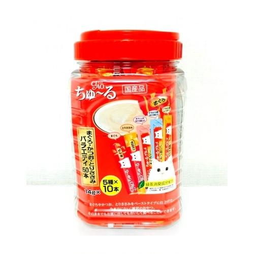 コストコ ちゅーる マグロ鶏ささみバラエティー50本 | Costco tulle tuna chicken fillet Variety 50 lines