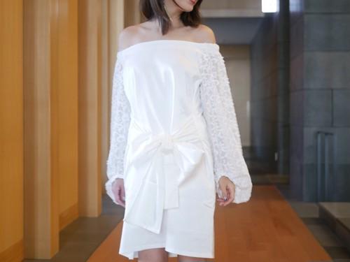 2way lace sleeve dress