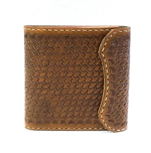 本革製ハーフ・ウォレット(バスケット刻印)hw015