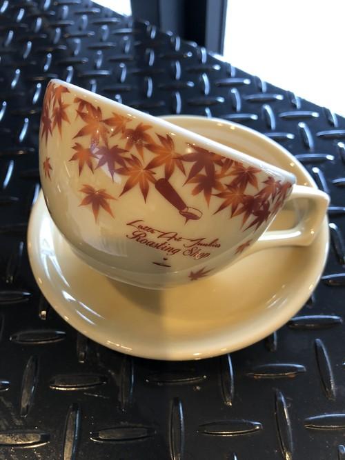 有田焼オリジナルカップ7oz紅葉柄ロゴ有り(税込・送料込)