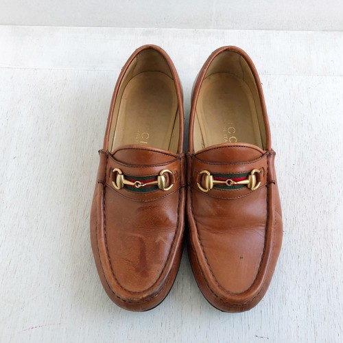 GUCCI  Shellyline bit moccasin shoes