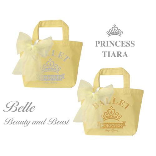 【お名入れ無料】ベル/美女と野獣☆プリンセスティアラ トートバッグ S