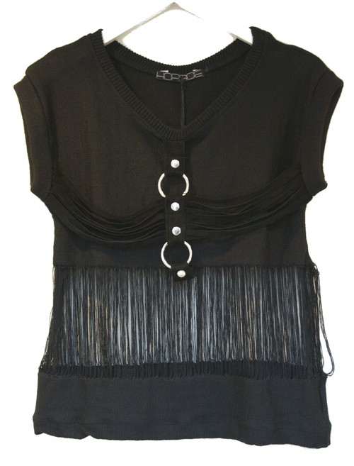HORACE TASSELS KNITTED TOPS タッセル ニット トップス / BLACK 50%OFF