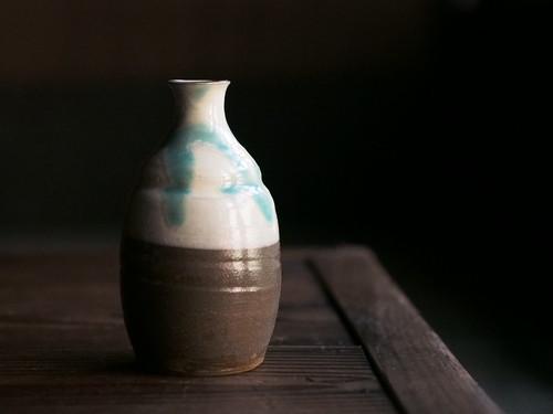 小鹿田焼 柳瀬朝夫窯 徳利(中)