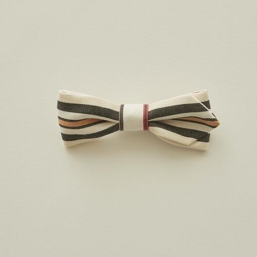 eLfinFolk エルフィンフォルク Regimen stripe bow tie color:ivory
