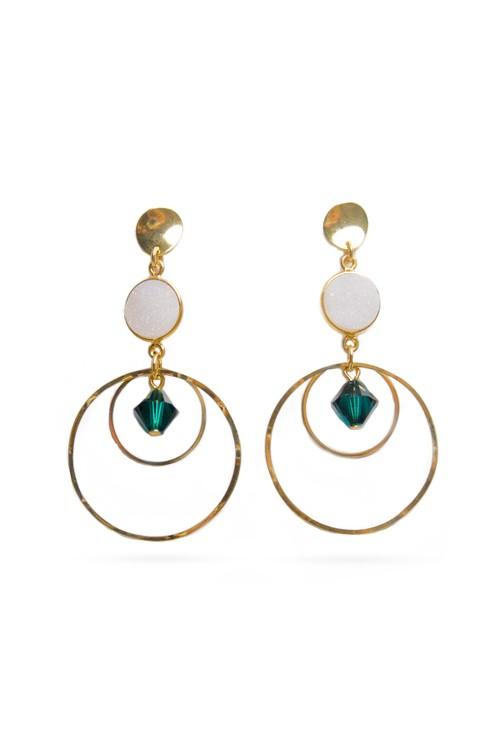 Druzy Stone Hoop Earrings