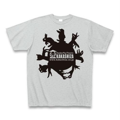 Tシャツ(手影絵動物・グレー)