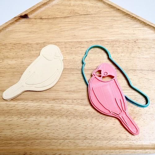 桜文鳥B クッキー型 【横向きバージョン】