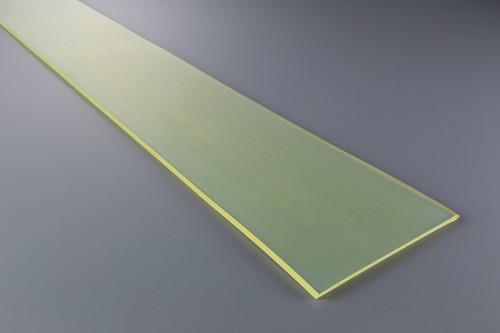 ウレタンゴム A90  15t (厚)x 1000mm(幅) x 2000mm(長さ)ポリエーテル系 クリアイエロー ※スクレーパー等