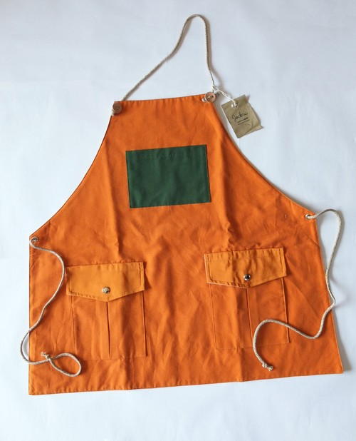 Mountain reversible apron[Sunshine Orange]