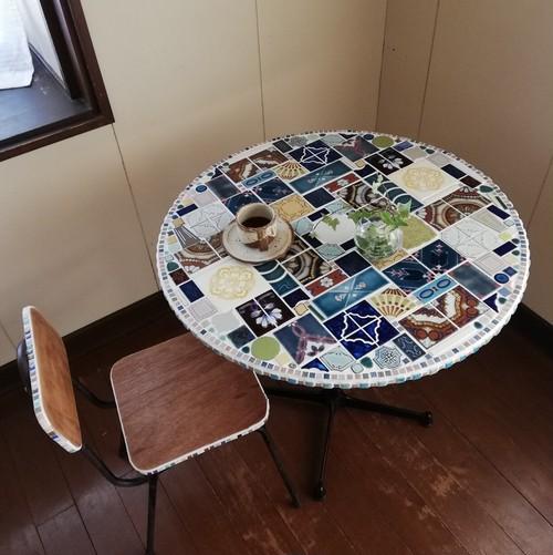 タイルのマルテーブル75◎受注生産