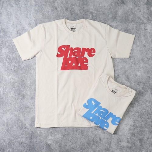 """【Mixta】S/S """" SHARE LOVE"""" T-SHIRT (2色) MADE IN USA アメリカ製 Tシャツ 半袖 プリントT ハンドプリント"""
