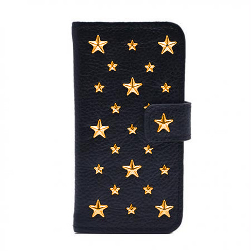 ENLA BY ENCHANTED.LA NOTEBOOKTYPE LEATHER STARS CASE / 14K Gold Filled Custom