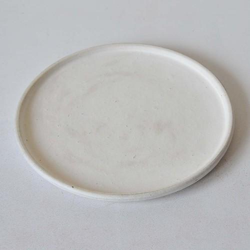 鈴木史子 7.5寸平皿 白(004)