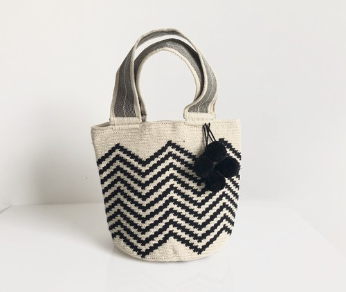 【Pre-order】ワユーバッグ (Wayuu bag) Basic line Mini Tote Zigzag