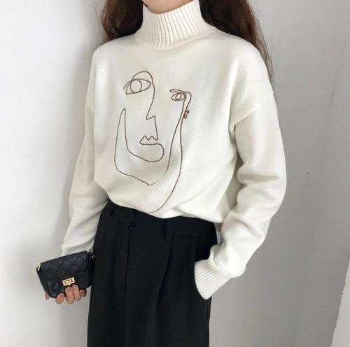 【即納♡】モダンデザインセーター 8281