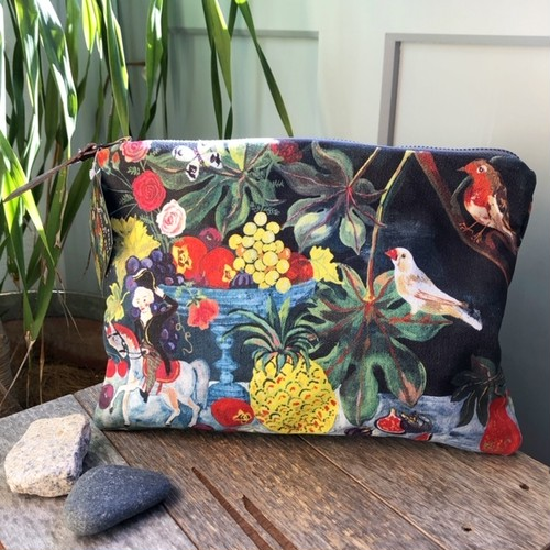 "Nathalie Lete ART PURSE ""Pineapple"" ナタリーレテ ポーチ"