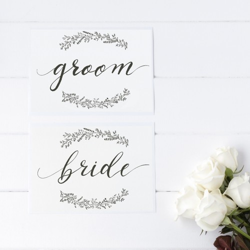 Groom & Bride サイン
