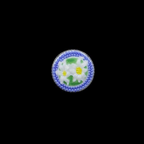 【チェコガラスボタン】エーデルワイス・青 ::: 中2.3cm