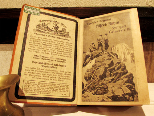 ドイツのアンティーク本・黒い森のガイドブック(古地図)