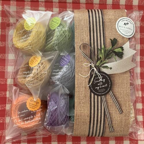 イタリア産高級オリジナルヘンプ 綺麗め単色カラー たっぷり15g玉12個セット(糸の太さを選んでください)送料込み!