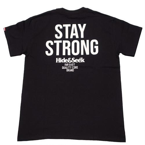 HIDEANDSEEK(ハイドアンドシーク) / STAY STRONG S/S TEE(HT-071120)(ポケットTシャツ)