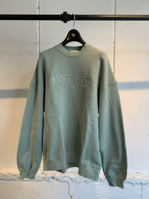 NEONSIGN    BOX LOGO SWEAT (emerald)