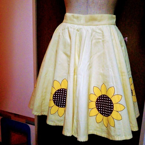 【MILK / Sunflowers柄スカート babyYellow】