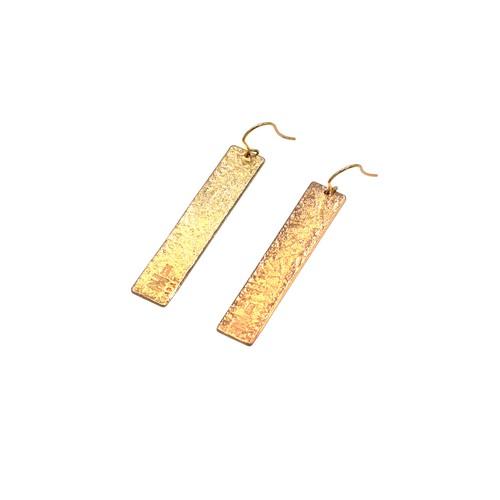 《ピアス》TIN BREATH Pierced earrings H 10×50mm Gold