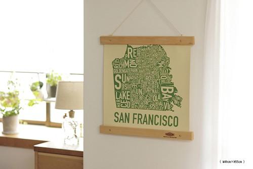 Wood Frame & Poster : 木製フレーム&ポスター W49cm×H55cm