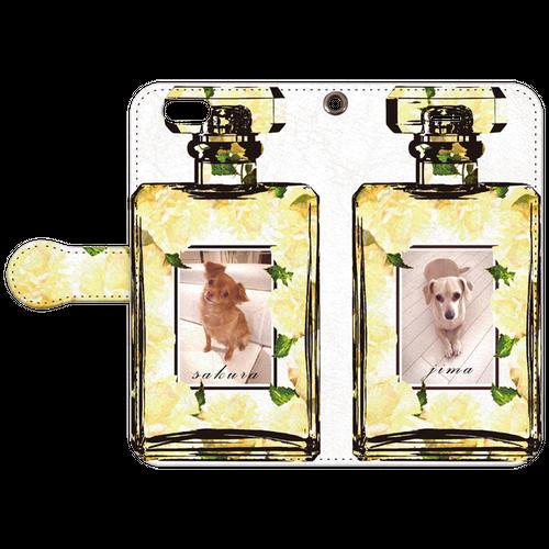 iPhonePlus・Android Lサイズ 香水手帳型ケース color:レモンイエロー